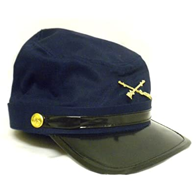 Blue and Gray Civil War Kepi Soldier Hats Fun History Kids Pretend Play Set (Civ War Hat): Toys & Games