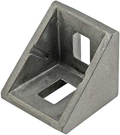 80/20 Inc, 14061, 10 as well as 25 Series 2 Hole 18mm Corner Bracket with Tabs, Dual Support (25 Pack)