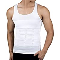DRSKIN Mens Slimming Body Shaper Vest Abdomen Slim Shirt, Compression Tank for Men