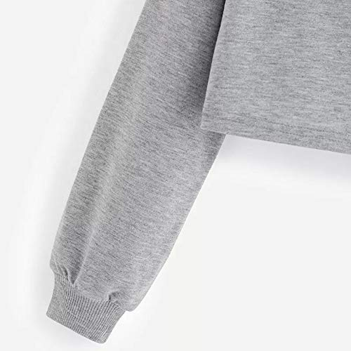 Blouse Longues Solike Cropped Sweat Femme Gris Printemps Ananas Appliqus Sweatshirt Sweats Tops Manteau de Sport Casual Manches Sweats Capuche Pullover Loose Automne Shirt vYTEEwxqn