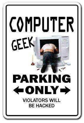 Decoración del hogar signo ordenador Geek portátil programador de regalo it Tech Sign metal sign para al aire libre Patio señal de seguridad signos de ...