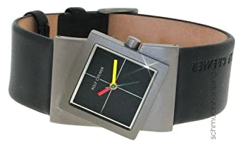Uhr - Analog Quarz - Titan Leder - Turn - schwarz