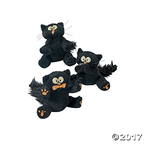 Stuffed Plush Halloween Toys Scaredy Cats - 12 Pieces