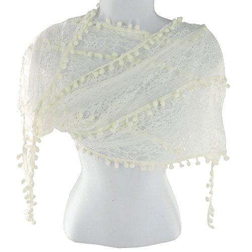 Silver Fever Elegant Skinny Lace Scarf w - Skinny Scarf Crochet Pattern Shopping Results