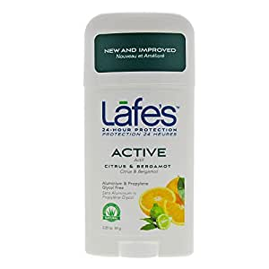 Amazon.com : Lafe's Deodorant Stick, Citrus & Bergamot, 2.25 Ounce