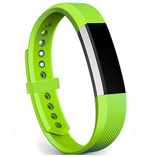 Fitbit Alta Bands / Fitbit Alta HR Bands, FanTEK Classic Soft Silicone Adjustable Replacement Sport Straps Band Bracelet Wristbands Accessory For Fitbit Alta/ Alta HR, Small, Green