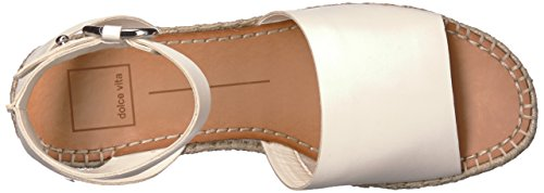 Off Leather Dolce Espadrille Wedge Sandal Women's Vita White Lesly YUwa8Y
