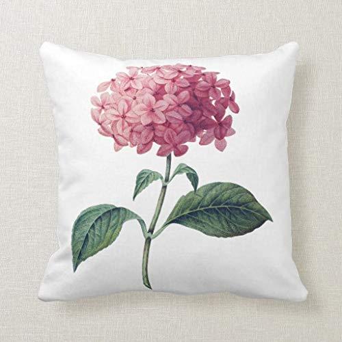 CELYCASY - Funda de Almohada Decorativa de Hortensia Floral ...