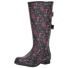 Chooka Women's Wide Calf Memory Foam Rain Boot