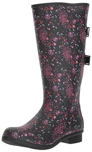 Chooka Women's Wide Calf Memory Foam Rain Boot, Multi, 6 M ()