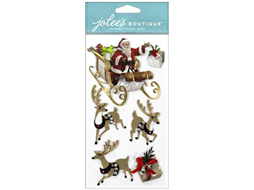 Jolee's Boutique Le Grande Santa & Sleigh New Christmas - Felt Boutique Ek Jolees