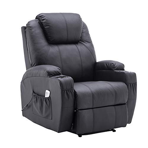 MCombo poltrona da massaggio elettrica, reclinabile con riscaldamento