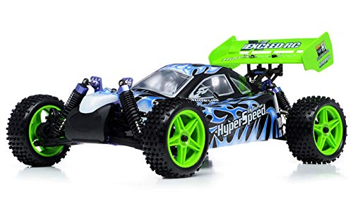 Exceed RC 1/10 2.4Ghz Hyper Speed Beginner Version .16 Engine Nitro Powered Off Road Buggy Fire BlackSTARTER KIT Required (Speed Car Rc Hyper)