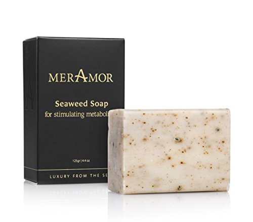 Dead Sea Seaweed - MerAmor Seaweed Soap Transforms Skin and Creating Velvety Softness Original Minirals Dead Sea Natural and Dried Red 125 Gram 4.4 Ounce