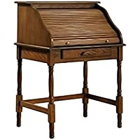Coaster Roll Top Bedroom Home Office Secretary Desk, Oak Finish