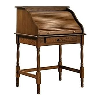 Elegant Coaster Palmetto Traditional Warm Honey Roll Top Secretary Desk
