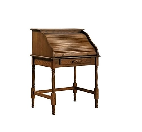 Coaster Home Palmetto Small Roll Top Secretary Desk Warm Honey (Roll Wood Top Desk)