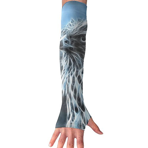 Animal Falcon Long Half Finger Unisex Sun Arm Protection Sleeve Outdoor Gloves by Fdvgfdgvfd