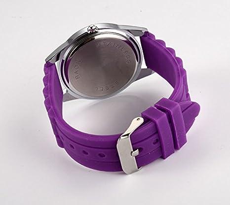 Amazon.com: Cartoon Watches Women Silicone Jelly Children Girls Dress Quartz Wristwatch Kids Hellokitty Watches (Purple): Cell Phones & Accessories