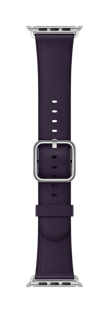 Apple 38mm Classic Buckle Smartwatch Replacement Band for Watch Series 1, Watch Series 2, Watch Series 3 - Dark Aubergine