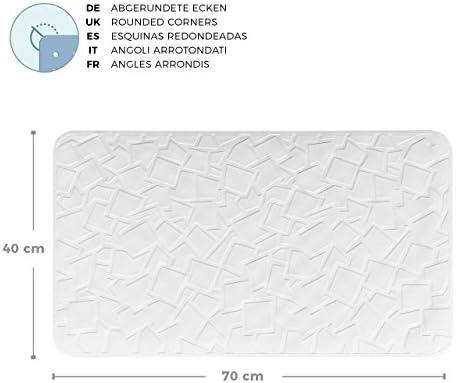 Crema-Bianco anche per Doccia in Gomma Naturale Extra-Lungo XXL 36 x 97 cm Pumpko/® Home Tappetino per Vasca da Bagno Antiscivolo con Ventose
