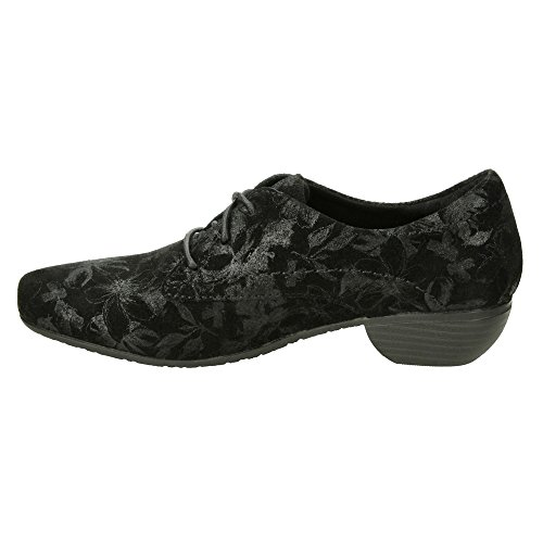 Black Cobbler Heel Print Shoe Women's Taos Low nXHxXaZ