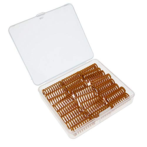 Kasteco 24 Pack 8mm OD 20mm Long Light Load Compression Mould Die Spring Yellow with Storage Box