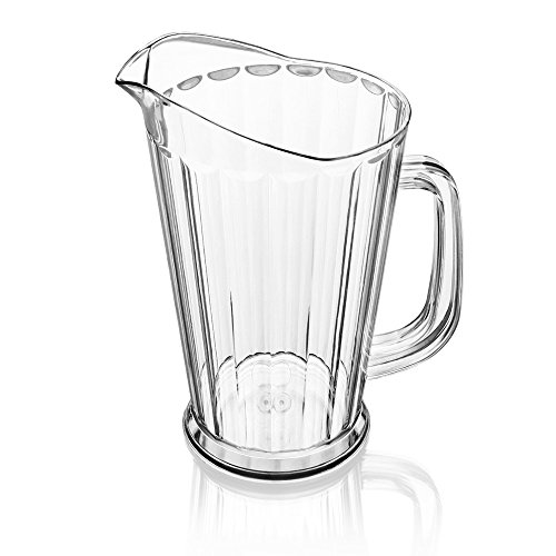 Water Pitcher Plastic (New Star 46144 Polycarbonate Plastic Tapered Style Restaurant Water Pitcher, 60-Ounce, Clear)