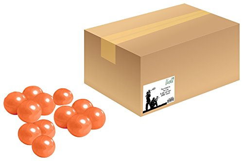 Veska V8090  High Grade Paintballs, .68 Caliber, Orange, 2 Piece