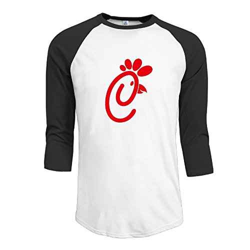 Mens 3 4 Chick Fli Bird Sleeve Raglan T Shirt Black Large
