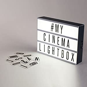 light box letters light up your life a4 size cinematic. Black Bedroom Furniture Sets. Home Design Ideas