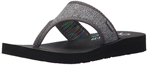 Skechers Cali Women's Meditation Zen Child Flip-Flop Grey