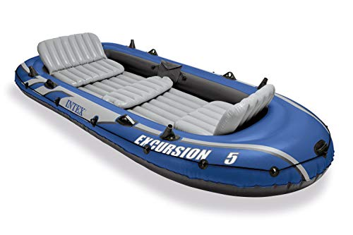 Intex Excursion 5 Person Inflatable  Boat Set (Best Inflatable River Rafts)