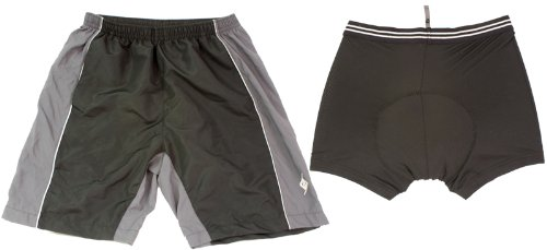 - Origin8 TechSport Loose Cycling Short, LG, Black/Gray