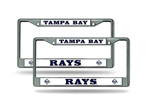 Tampa Bay Rays MLB (Set of 2) Chrome Metal License Plate Frames