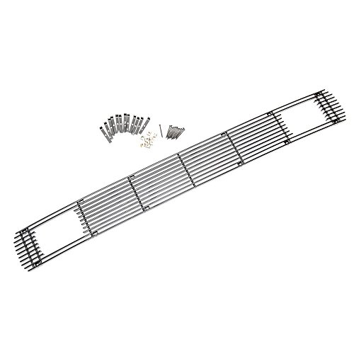 Sizver Black Polished Lower Bumper Billet Grilles Insert Overlay For 2011-2014 Ford F250/F350/F450/F550