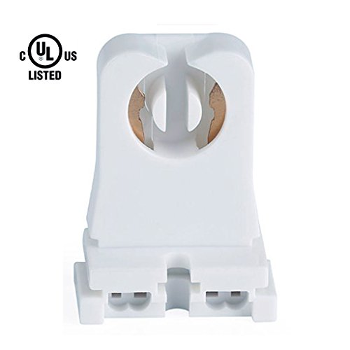 20 Pack Kedsum Ul Listed Non Shunted Turn Type T8 Lamp Holder Tombstone Medium Bi Pin Sockets For Led Fluorescent Tube Light Replacements Standard