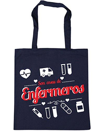 HippoWarehouse Son Cosas de Enfermeros Bolso de Playa Bolsa Compra Con Asas para gimnasio 42cm x 38cm 10 litros capacidad Azul Marino
