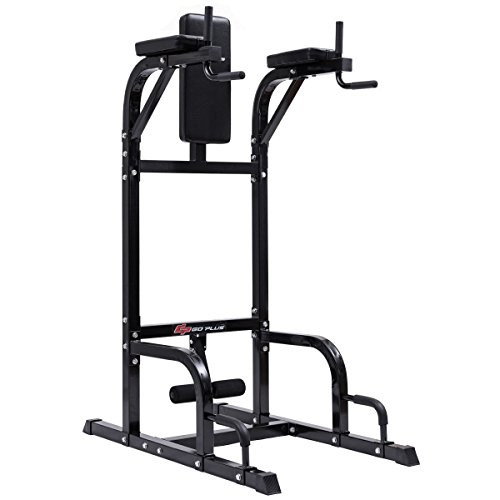 Vertical Knee Raise Dip Station Chin Up Push Up Stand Power Tower Fitness by Apontus