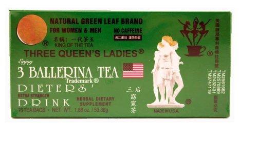 3 Ballerina Tea Trois Queens Ladies diète boissons (Extra Strength / 18 ct) - 1,88 oz