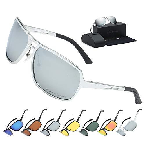 Xloop Polarized Aircraft Aluminum Aviator Fashion Driving Sunglasses For Women ()