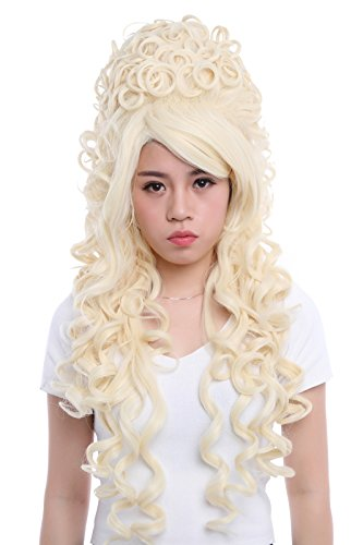 Nuoqi Women California Marie Antoinette Beige Wig Cosplay Costume Wig ZY34A ()