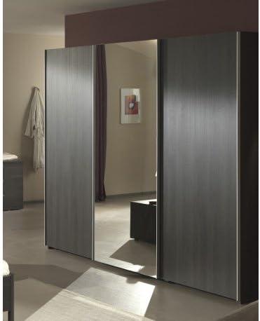 Armario con espejo adulto 3 puertas correderas, ola, colores roble Congo: Amazon.es: Hogar