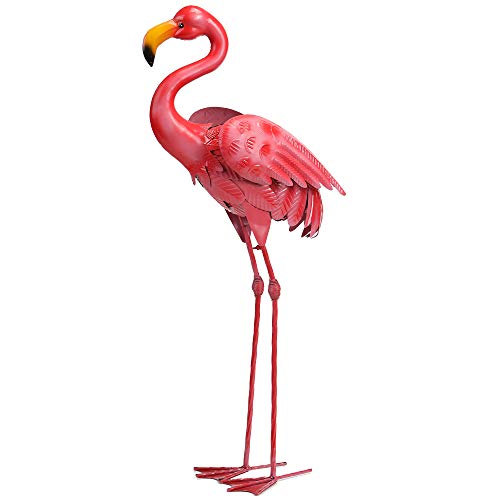 WSgift Metal Standing Flamingo Garden Decor, Flamingo, used for sale  Delivered anywhere in USA
