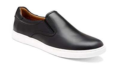 7a843f188be8c Vionic Men's Mott Brody Slip-on Sneaker with Concealed Orthotic Arch  Support Black Leather 7