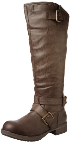 Madden Girl Womens Legacie Boot Brown Paris
