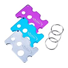 Essential Oil Key Tool, Mudder Metal Essential Oil Bottle Opener Remover for Roller Balls and Caps, 3 Pieces