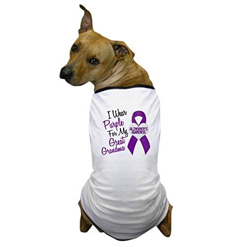 CafePress - I Wear Purple for My Great Grandma 18 (AD) Dog T-S - Dog T-Shirt, Pet Clothing, Funny Dog Costume