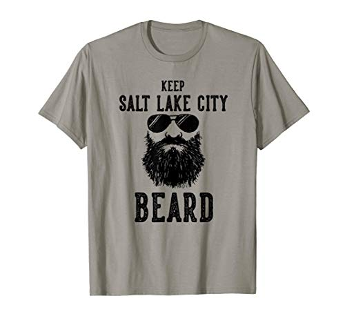 Keep Salt Lake City Utah BEARD Funny Hipster Retro  ()