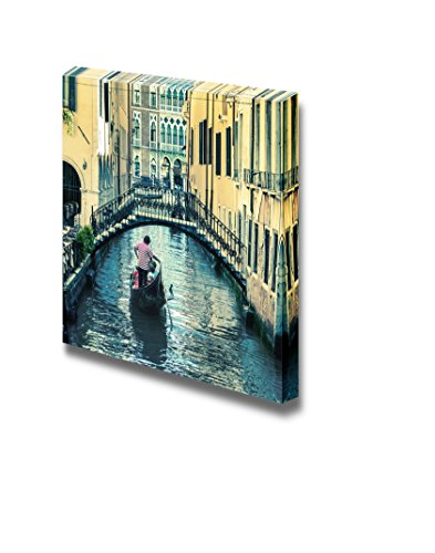 Beautiful Scenery Landscape Pictorial Venetian Canal with Gondola Home Deoration Wall Decor ing
